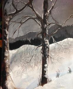 28 x 22tree snow gray